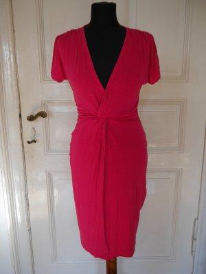 Pinkes Sommerkleid Wickelkleid MANGO XS
