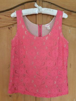 Pinkes Spitzentop von H&M