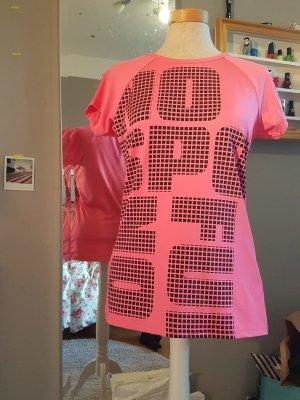 Sports Shirt black-neon pink
