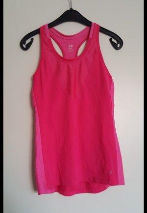 H&M Sporttop roze-neonroos