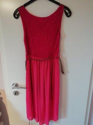 Vestido playero rosa-magenta