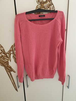 Amisu Camisa tejida rosa tejido mezclado