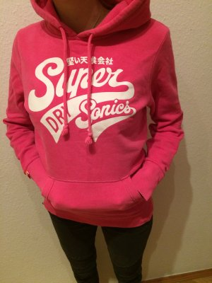 pinkes Superdry Sweatshirt mit Kapuze, Größe M