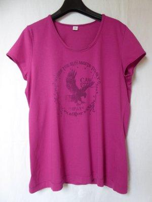 Pinkes T-Shirt mit Motiv von S.Oliver