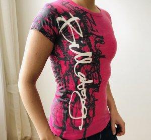 Billabong Camiseta estampada rojo frambuesa