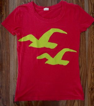 Pinkes T-Shirt von Hollister in S
