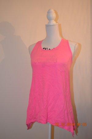Pinkes Tanktop mit Brusttasche