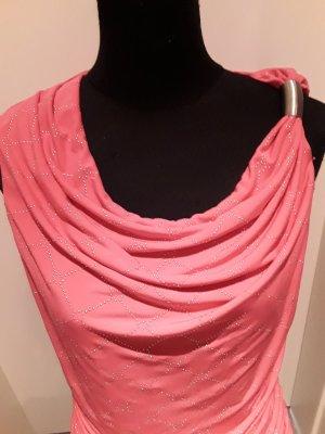 pinkes Top mit silbernen Glitzersteinchen - Femme - Größe 40