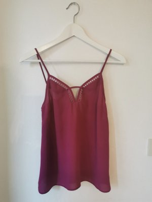 Asos Strappy Top raspberry-red polyester