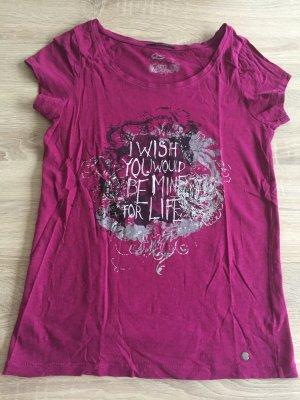Pinkes Tshirt mit Aufdruck