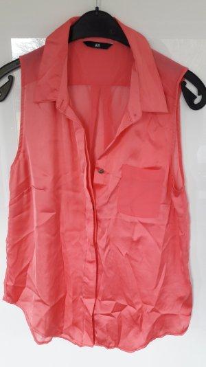 pinkfarbene ärmellose Bluse von H&m