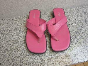 pinkfarbene Apart-Zehensandaletten Gr.38 Leder NEU