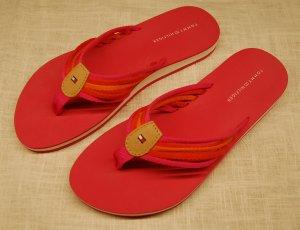 Pinkfarbene Flipflops von Hilfiger Gr. 40