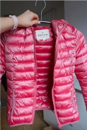 Review Gewatteerd jack roze-neonroos Nylon