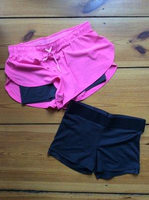 Pinkfarbene Laufshorts