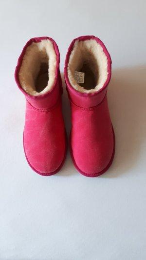 Pinkfarbene Leinen UGGs Boots Gr. 38