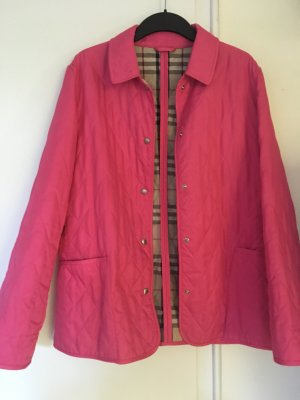 Pinkfarbene Original Burberry London wattierte Jacke as new