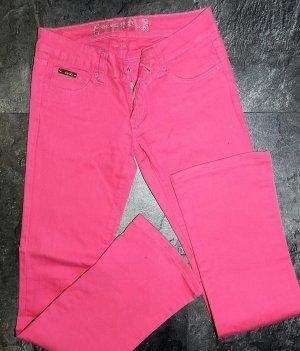 Pinkfarbene Stretchjeans