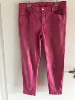Montego Pantalone cinque tasche rosa Cotone