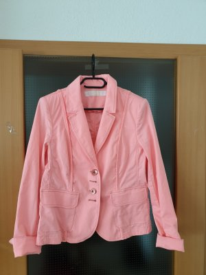Airfield Denim Blazer pink-neon pink cotton