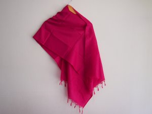 Fringed Scarf raspberry-red-pink