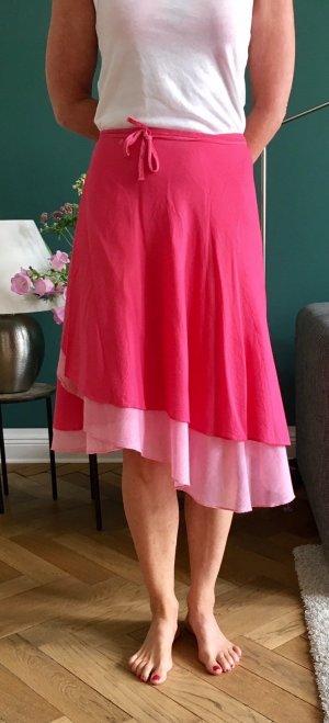 Pinkfarbener Wickelrock..One Size ( Ohne Angabe im Rock  )