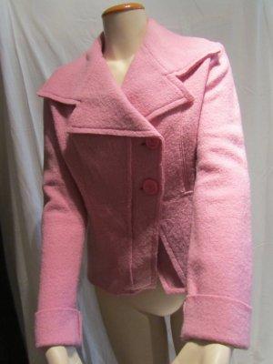 Pinkfarbener Woll-Blazer von Benetton