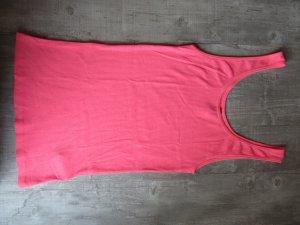 Pinkfarbenes Feinripp-Top
