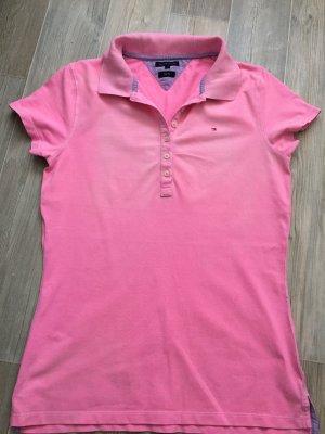 Pinkfarbenes Poloshirt von Tommy Hilfiger in Größe L
