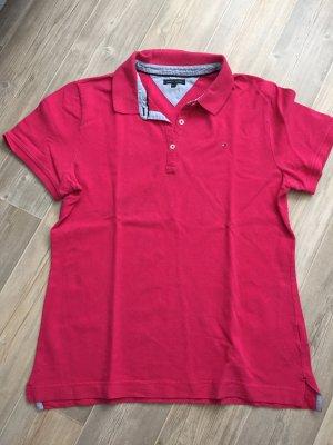 Pinkfarbenes Poloshirt von Tommy Hilfiger in Größe XL