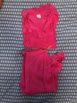 Leisure suit magenta-raspberry-red