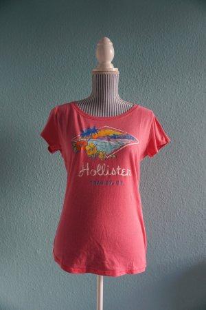 Pinkfarbenes T-Shirt von Hollister