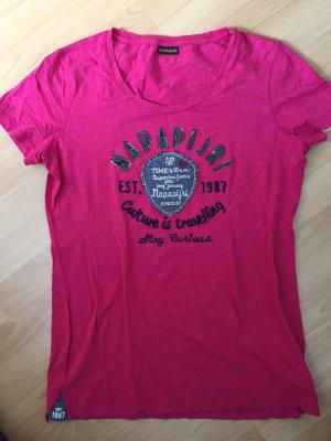 Pinkfarbenes T -Shirt von Napapijri Größe XXL
