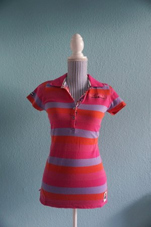 Pinkgestreiftes Poloshirt mit Pailletten von GAASTRA