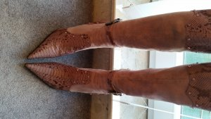 Pinkgoldene Stiefel 12cm Absatz