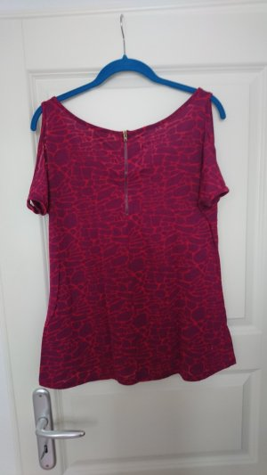 Clockhouse Cut Out Top raspberry-red