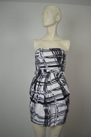 Pinko, Bandeau-Kleid, schwarz / weiß, Gr. 34