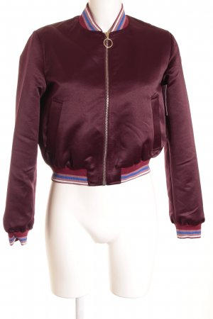 Pinko Giacca bomber bordeaux-rosa stampa stile casual