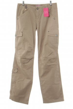 Pinko Boyfriendbroek beige Logo applicatie (metaal)