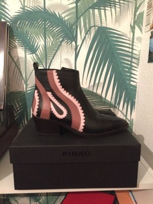 Pinko Cascate Texano - Ankle Boots - rosa/schwarz