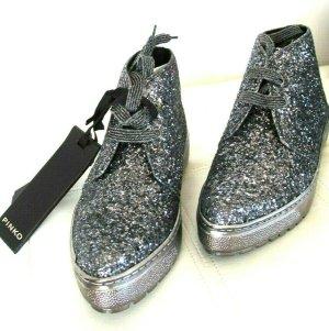 PINKO Chukka Boots Gr. 36 UK 3 Leder Glitter NP 249,-€ NEU