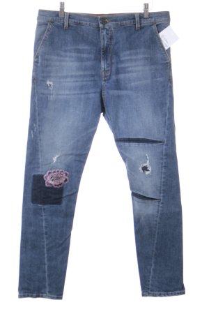 Pinko Floral Jeans Casual-Look Boyfriend Girlfriend Applikation