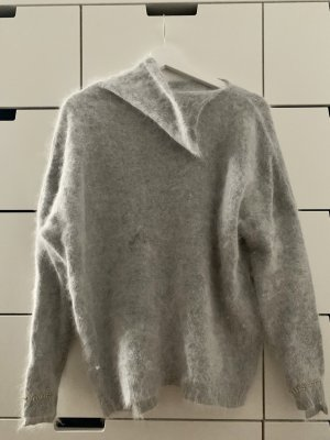 Pinko Hellgrauer Oversized Pullover 70% Angora