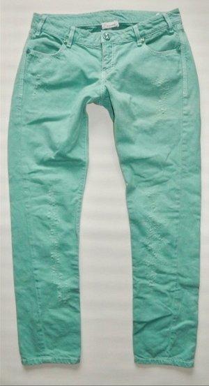 Pinko Jeans Hose Gr. W30 mintgrün