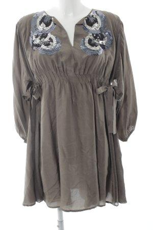 Pinko Kimono-Bluse grüngrau Casual-Look