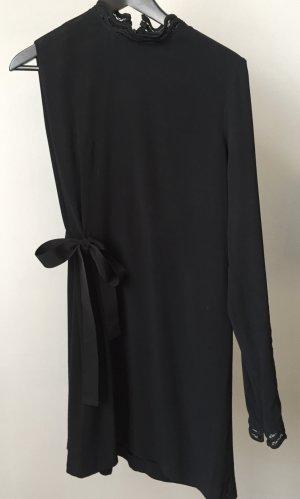 PINKO Kleid, eleganter, asymmetrischer Schnitt -> ein Ärmel, ein Schleifengürtel