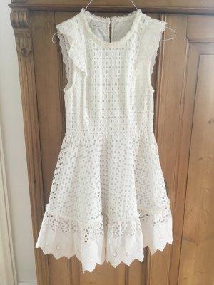 Pinko Kleid Gr. 38 (IT) weiß aus Spitze Neuwertig