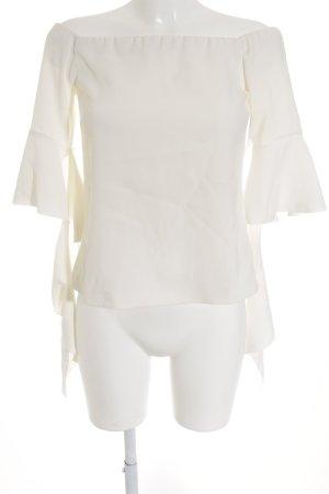 Pinko Kurzarm-Bluse wollweiß Elegant