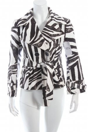 Pinko Short Jacket white-black allover print extravagant style