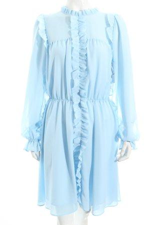 Pinko Langarmkleid hellblau extravaganter Stil